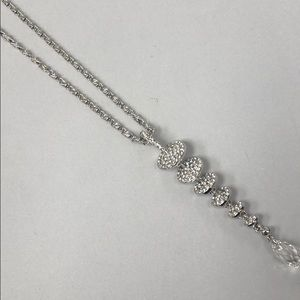"Pavé Crystal ""Life in Balance""Symbol Necklace,NWT"
